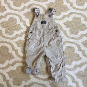 ✴️4/$15 Oshkosh khaki overalls 6-9m